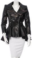 Alexander McQueen Leather Peplum Jacket w/ Tags