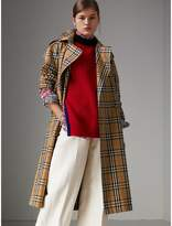 Burberry Vintage Check Cotton Trench Coat