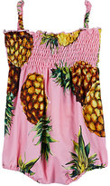 Dolce & Gabbana Pineapple-Print Cotton Poplin Romper