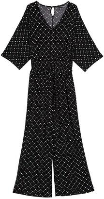 Nina Leonard Patterned 3/4 Sleeve Jumpsuit
