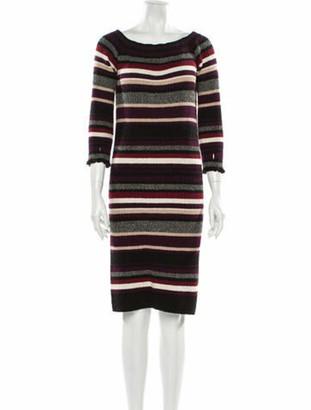 Eleven Six Striped Knee-Length Dress Purple