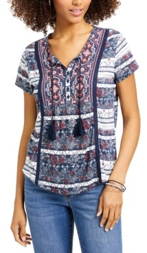 Style&Co. Style & Co Plus Size American Picnic Printed Top, Created for Macy's