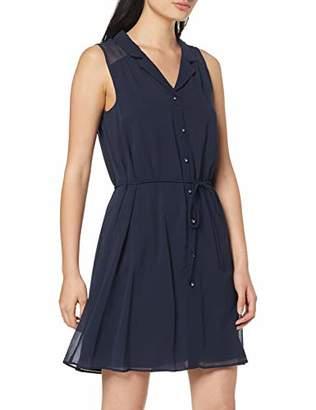 Naf Naf womens KALIA R1 Knee-Length Plain peplum Party Dress,(Manufacturer Size: 38)