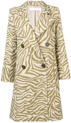 See by Chloe Zebra Print Coat