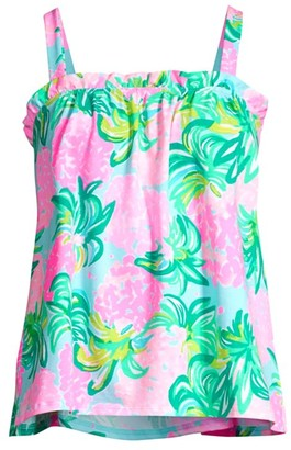 Lilly Pulitzer Jia Floral Print Tank Top