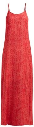 Chufy - Camel Reversible Slip Dress - Womens - Red Multi