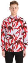 Marni Flower Print Washed Cotton Toile Shirt