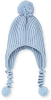 Sofia Cashmere Kids' Ribbed Cashmere Corkscrew Hat
