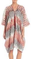 Josie Natori Couture Beachy Cotton And Silk Caftan