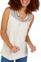 Fat Face Saffron Embroidered Cami, Ivory