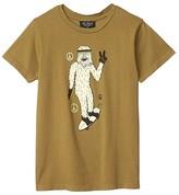 Tiny Whales Radical Sasquatch T-Shirt (Toddler/Little Kids/Big Kids) (Army Green) Boy's Clothing