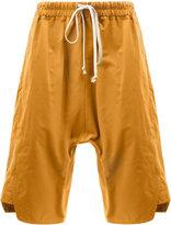 Rick Owens drop-crotch shorts - men - Cotton/Polyamide - 50