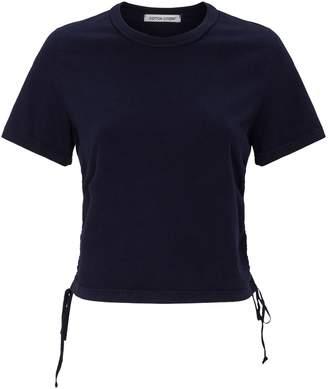 Cotton Citizen Lisbon Ruched Side-Tie T-Shirt