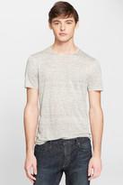 John Varvatos Collection Slub Linen T-Shirt