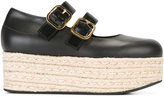 Marni Mary Jane platform espadrilles - women - Calf Leather/Lamb Skin/rubber - 37