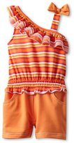 Little Lass Baby-girls Infant 1 Piece Romper With Stripes and Smocking