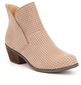 Me Too Adam Tucker by Zinnia Perforated Nubuck Tulip Topline Booties
