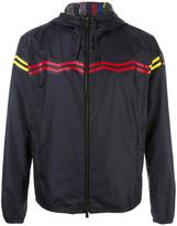 Fendi zig-zag hooded windbreaker - men - Calf Leather/nylon 12 - 46
