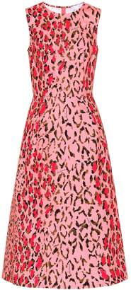 Carolina Herrera Printed stretch-cotton dress
