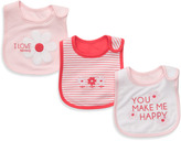 Carter's Coral & Pink Floral 3-Pack Teething Bibs
