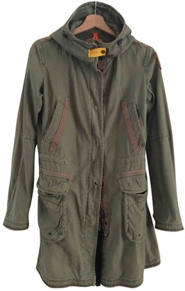 Parajumpers Khaki Cotton Trench Coat for Women