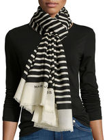 Marc by Marc Jacobs Jacqueline Wool Striped Scarf