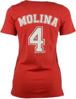 5th & Ocean Women's Yadier Molina St. Louis Cardinals Foil Player T-Shirt