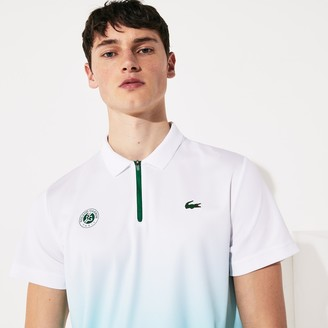 Lacoste Men's SPORT Roland Garros Zip-Front Performance Polo Shirt