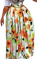 Dearlovers Women Beach Skirt Traditional African Print Length Maxi Skirts