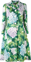 Dolce & Gabbana floral coat - women - Silk/Cotton/Polyester/Viscose - 40