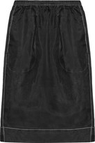 Bassike Silk-organza Skirt - Black