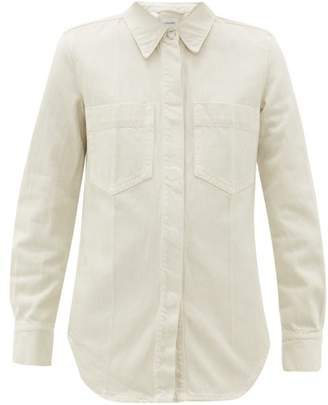 Lemaire Patch-pocket Denim Overshirt - Womens - Ivory