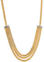 Lord & Taylor 14K Italian Gold and Rhodium Stations Necklace