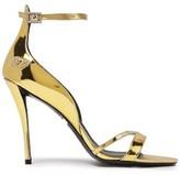 Roger Vivier Zafferano Mirrored Leather Sandals