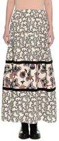 Valentino Chain & Pop-Flower Maxi Skirt