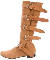 Vivienne Westwood Suede Buckle-Embellished Boots