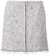 Theory straight mini skirt - women - Cotton/Acrylic/Polyester/Rayon - 2