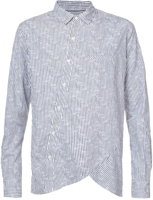 Private Stock Off-Centre Button Placket Striped Shirt
