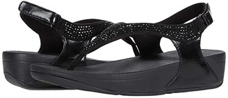 FitFlop Skylar Crystal Toe Thong (Black) Women's Shoes
