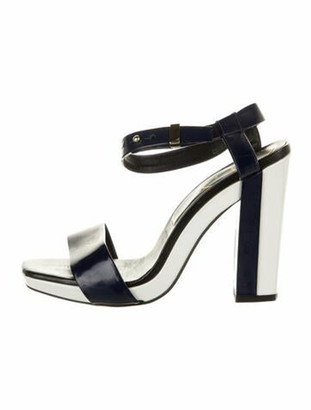Roger Vivier Patent Leather Sandals Blue