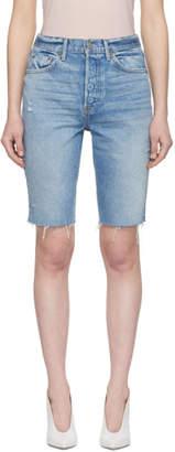 GRLFRND Blue Beverly Shorts
