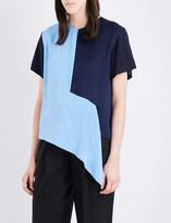 Diane von Furstenberg Colourblock silk-crepe top