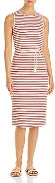 Vero Moda Oya Striped Belted Midi Dress