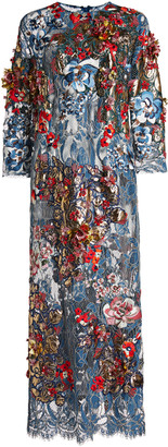 Biyan Letisha Printed Lame Dress