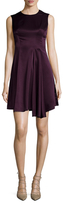 Ava & Aiden Asymmetrical Pleated Fit And Flare Dress