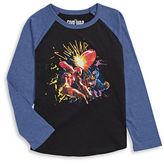 Licensed Tees Captain American vs Iron Man Long Sleeve T-Shirt