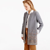 J.Crew Collection cocoon coat in embellished Italian wool melton