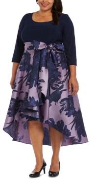 R & M Richards Plus Size Fit & Flare Gown