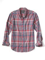 Banana Republic Camden-Fit Luxe Flannel Large Plaid Shirt