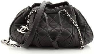 Chanel Sac Cordon Shoulder Bag Quilted Lambskin Medium